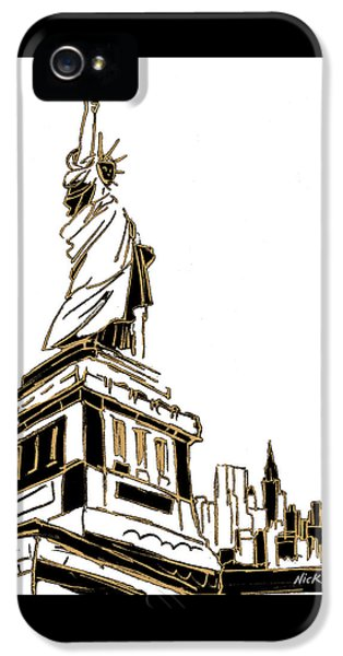 Tenement Liberty IPhone 5s Case by Nicholas Biscardi