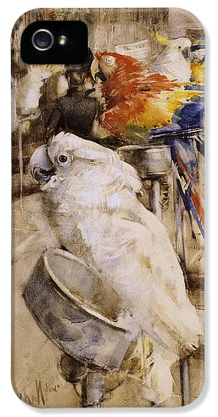 Cockatoo iPhone 5s Case - The Aviary, Clifton, 1888 by Joseph Crawhall