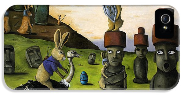 Emu iPhone 5s Case - The Battle Over Easter Island by Leah Saulnier The Painting Maniac