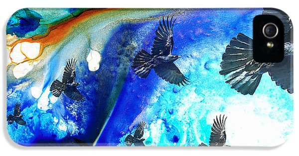 The Calling - Raven Crow Art By Sharon Cummings IPhone 5s Case by Sharon Cummings