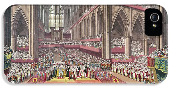 Westminster Abbey iPhone 5s Case - The Coronation Of King William Iv And Queen Adelaide, 1831 Colour Litho by English School