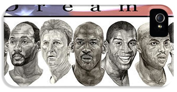 Magic Johnson iPhone 5s Case - the Dream Team by Tamir Barkan