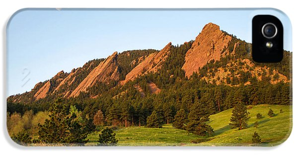 The Flatirons - Spring IPhone 5s Case by Aaron Spong