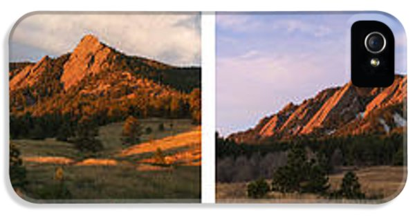 The Flatirons - Four Seasons Panorama IPhone 5s Case by Aaron Spong