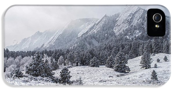 The Flatirons - Winter IPhone 5s Case by Aaron Spong