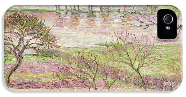Impressionism iPhone 5s Case - The Flood At Eragny by Camille Pissarro