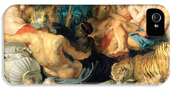 Crocodile iPhone 5s Case - The Four Continents, 1615 by Peter Paul Rubens
