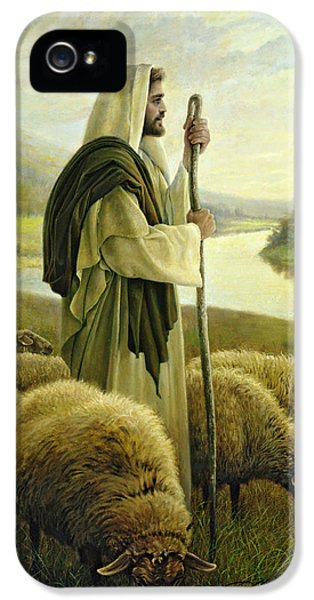 Sheep iPhone 5s Case - The Good Shepherd by Greg Olsen
