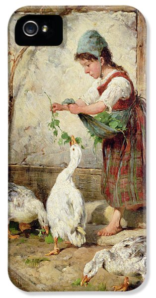 Goose iPhone 5s Case - The Goose Girl by Antonio Montemezzano
