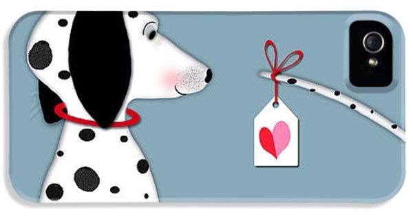 Dog iPhone 5s Case - The Letter D For Dalmatian by Valerie Drake Lesiak