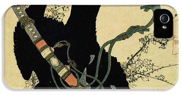 The Little Raven With The Minamoto Clan Sword IPhone 5s Case by Katsushika Hokusai