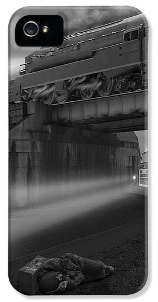 Buzzard iPhone 5s Case - The Overpass by Mike McGlothlen