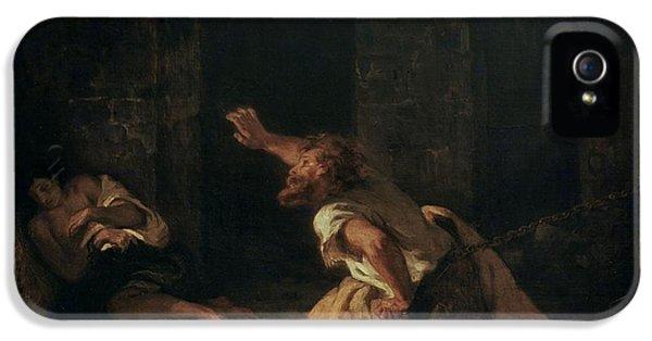 The Prisoner Of Chillon IPhone 5s Case by Ferdinand Victor Eugene Delacroix
