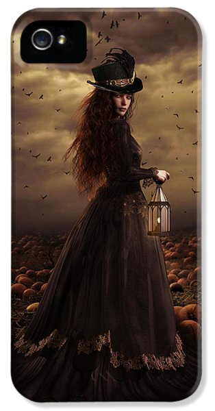 Crow iPhone 5s Case - The Pumpkin Patch by Shanina Conway