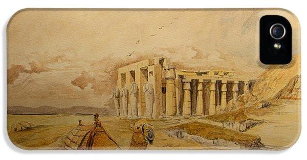 Camel iPhone 5s Case - The Ramesseum Theban Necropolis Egypt by Juan  Bosco