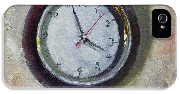 Clock iPhone 5s Case - The Times by Ylli Haruni