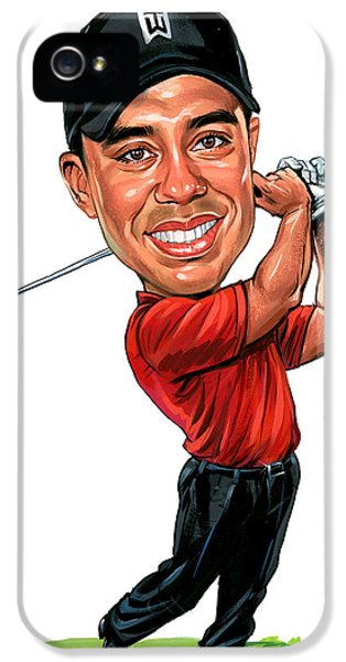 Tiger Woods IPhone 5s Case by Art