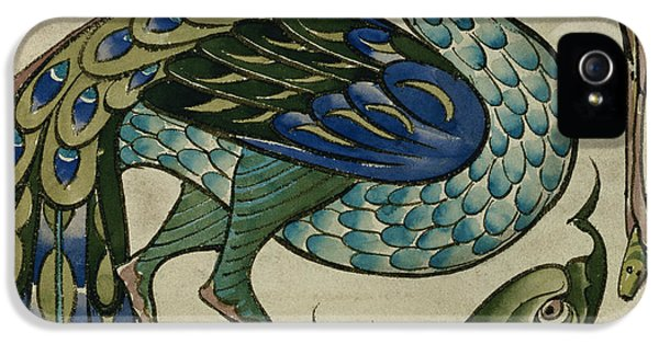 Tile Design Of Heron And Fish IPhone 5s Case by Walter Crane