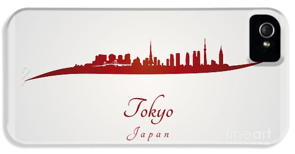 Tokyo Skyline In Red IPhone 5s Case
