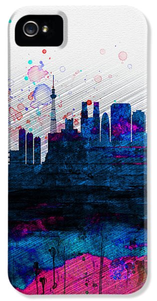 Tokyo Watercolor Skyline 2 IPhone 5s Case by Naxart Studio