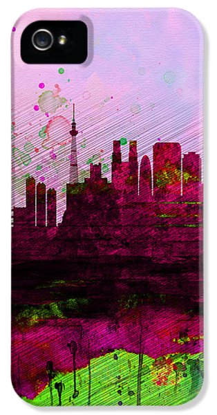 Tokyo Watercolor Skyline IPhone 5s Case by Naxart Studio