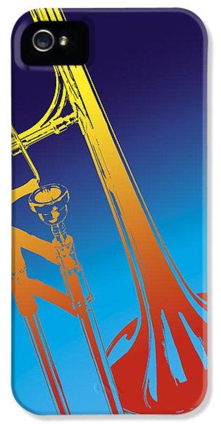 Trombone iPhone 5s Case - Trombone by Daniel Troy