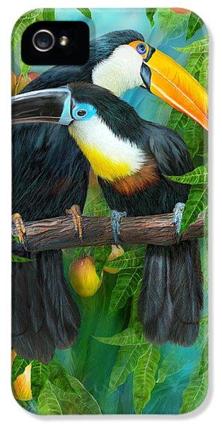 Tropic Spirits - Toucans IPhone 5s Case by Carol Cavalaris