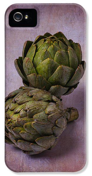 Two Artichokes IPhone 5s Case by Garry Gay