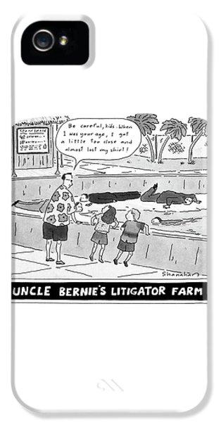 Uncle Bernie's Litigator Farm Be Careful IPhone 5s Case