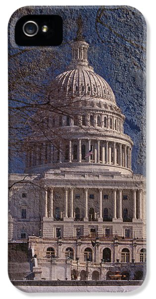 Whitehouse iPhone 5s Case - United States Capitol by Skip Willits