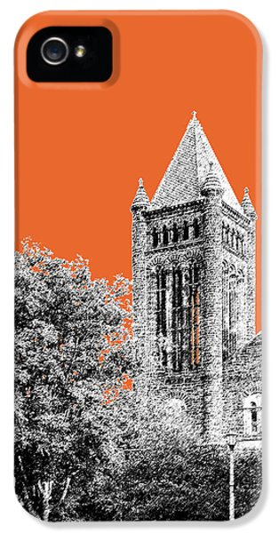 University Of Illinois 2 - Altgeld Hall - Coral IPhone 5s Case by DB Artist