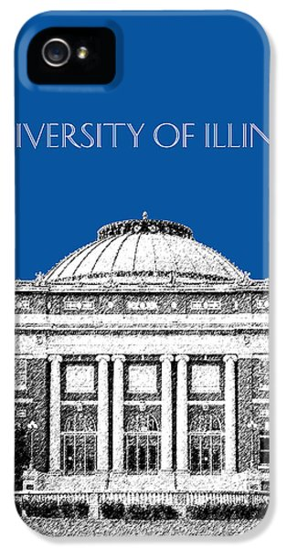 University Of Illinois Foellinger Auditorium - Royal Blue IPhone 5s Case by DB Artist