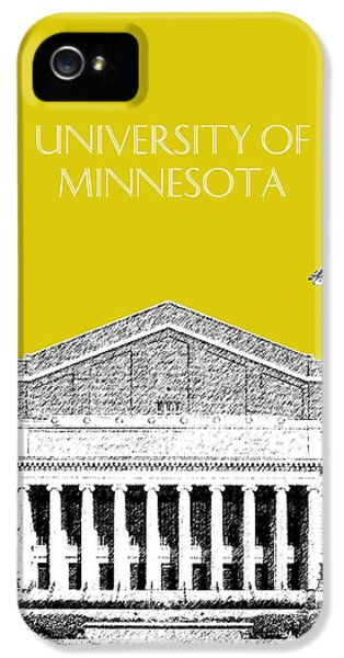 University Of Minnesota iPhone 5s Case - University Of Minnesota 2 - Northrop Auditorium - Mustard Yellow by DB Artist