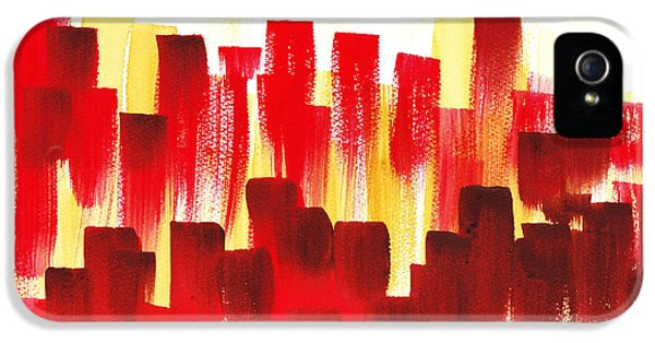 Urban Abstract Red City Lights IPhone 5s Case by Irina Sztukowski