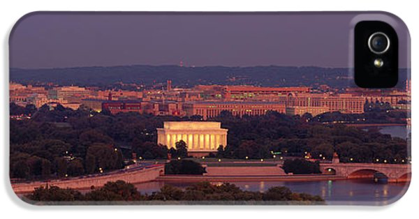 Usa, Washington Dc, Aerial, Night IPhone 5s Case by Panoramic Images