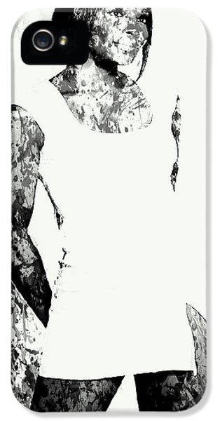 Venus Williams Paint Splatter 2c IPhone 5s Case by Brian Reaves