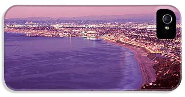 Santa Monica iPhone 5s Case - View Of Los Angeles Downtown by Panoramic Images