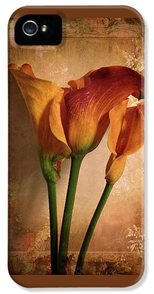 IPhone 5s Case featuring the photograph Vintage Calla Lily by Jessica Jenney