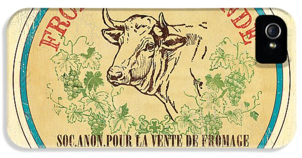 Cow iPhone 5s Case - Vintage Cheese Label 1 by Debbie DeWitt
