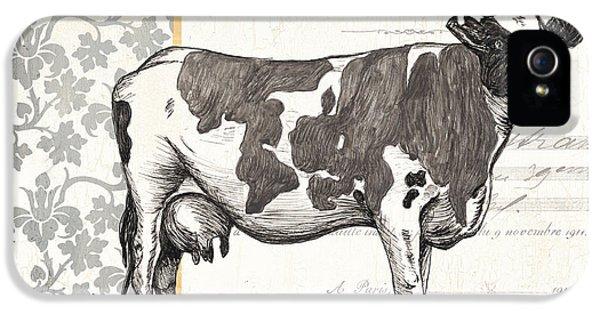 Cow iPhone 5s Case - Vintage Farm 1 by Debbie DeWitt