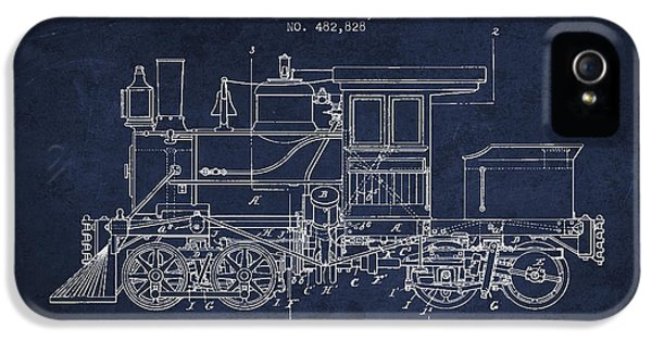 Train iPhone 5s Case - Vintage Locomotive Patent From 1892 by Aged Pixel