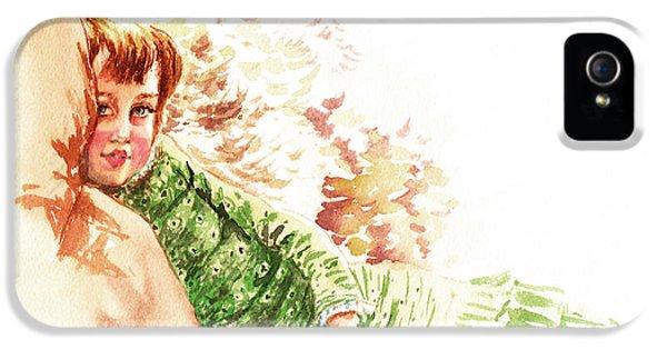 IPhone 5s Case featuring the painting Vintage Study Lilian Of James Tissot by Irina Sztukowski