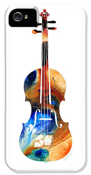 Music iPhone 5s Case - Violin Art By Sharon Cummings by Sharon Cummings