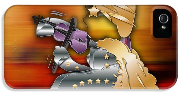 IPhone 5s Case featuring the digital art Violin Player by Marvin Blaine