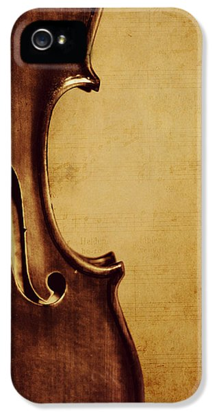 Violin iPhone 5s Case - Violin Portrait  by Emily Kay