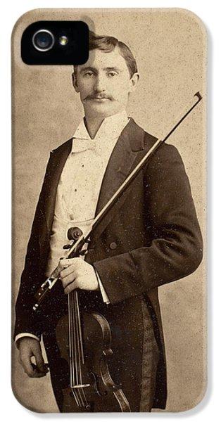 Violin iPhone 5s Case - Violinist, C1900 by Granger