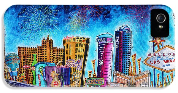 Viva Las Vegas A Fun And Funky Pop Art Painting Of The Vegas Skyline And Sign By Megan Duncanson IPhone 5s Case
