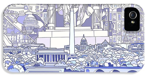 Washington Dc Skyline Abstract 3 IPhone 5s Case