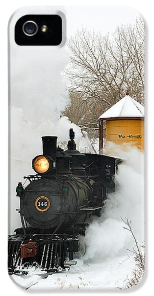 Train iPhone 5s Case - Water Tower Behind The Steam by Ken Smith