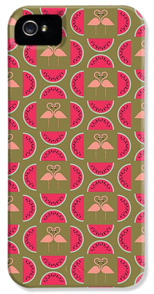 Watermelon Flamingo Print IPhone 5s Case by Susan Claire